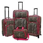 Leopard Print Travel Luggage with Lock