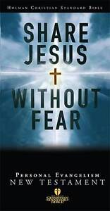 HCSB Share Jesus Without Fear New Testament, Black Bonded Leather (Holman Christ