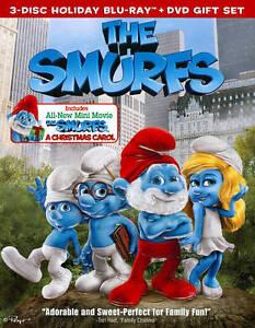 Smurfs Christmas.The Smurfs The Smurfs Christmas Carol Blu Ray Dvd 2011 3 Disc Set Blu Ray Dvd Includes Digital Copy Ultraviolet