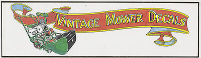 Vintage Mower Decals