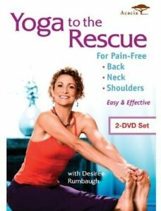 Yoga to the Rescue for Pain Free Back, Neck & Shoulders (DVD, 2013, 2-Disc Set)