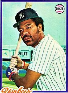 1978 Topps Cliff Johnson New York Yankees 309 Baseball Card