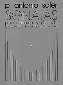 P. ANTONIO SOLER SONATAS VOLUME FIVE PF: 5, New, Various Book
