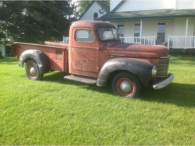 1948-International-KB1-Half-Ton-Pick-Up-RARE-Knox-Box-Ford-Chevy-Runs-Drives