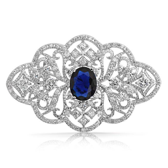 Diamanten und Edelsteine auf Broschen und Anstecknadeln: Echtschmuck von zeitloser Eleganz