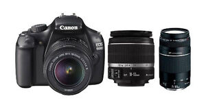 Canon EOS Rebel T5 / EOS 1200D 18 0MP Digital SLR Camera - Black (Kit w/  EF-S IS II 18-55mm and EF III 75-300mm Lenses)
