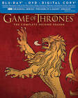 Game of Thrones: The Complete Second Season (Blu-ray/DVD, 2013, Includes Digital Copy; Lannister)