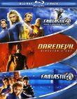 Marvel 3-Pack: Fantastic Four/Fantastic Four: Rise of the Silver Surfer/Daredevil (Blu-ray Disc, 2008, 3-Disc Set, Checkpoint; Sensormatic; Widescreen)