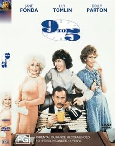 9-TO-5-DVD-Dolly-Parton-Jane-Fonda-Lily-Tomlin-COMEDY-Sealed-R4