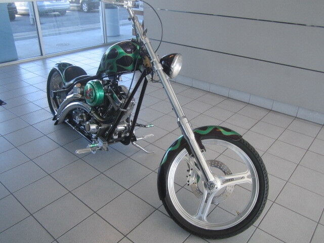 """Road Rage Performance Custom """"The Grinch"""" w West Coast Choppers Frame and Tank"""