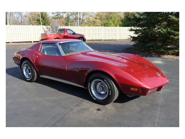 listing expired 1974 burgundy corvette for sale lansing michigan dealer. Black Bedroom Furniture Sets. Home Design Ideas