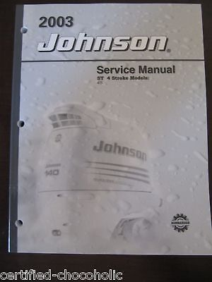 2003 Johnson Factory Service Manual 4 And 5 Hp St, 4 Stroke - Free Shipping