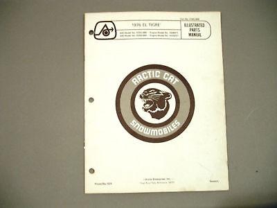 1976 Vintage Arctic Cat El Tigre Parts Manual