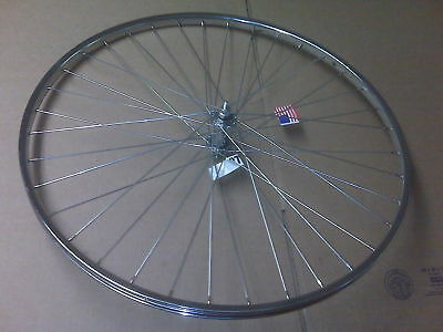 27 Inch Steel Bicycle Wheel Front Chrome