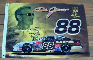 DALE-JARRETT-88-UPS-NASCAR-FLAG-NICE