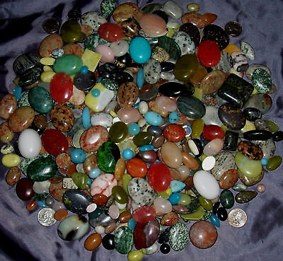 ~SUPER QUALITY 1100+ CT CABOCHON NATURAL GEMSTONE LOT~