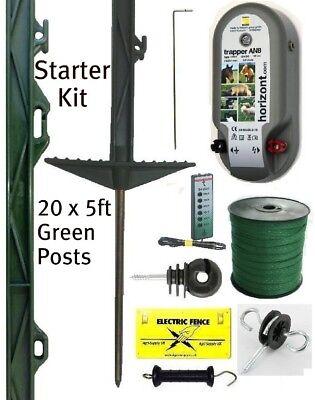 Electric Fencing Starter Kit 5ft Posts 20mm Fence Tape