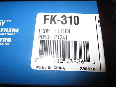Pro-king Fk-310 Automatic Transmission Filter Kit Compat W/ Ft1164 & P1241 (new)