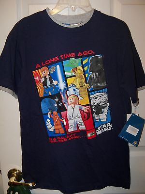 Lego Star Wars Blue Short Sleeve Shirt Boys Size 18