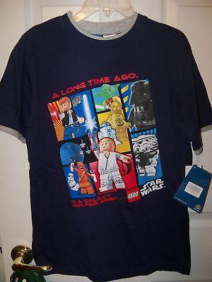Lego Star Wars Blue Short Sleeve Shirt Boys Size 14 / 16 98