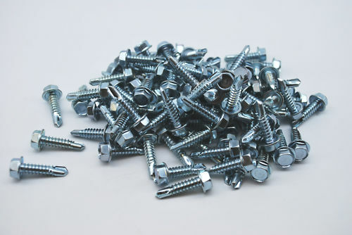 100 Hex Self Tapping Screws 14 X 1 Washer 3/8 Head All Purpose