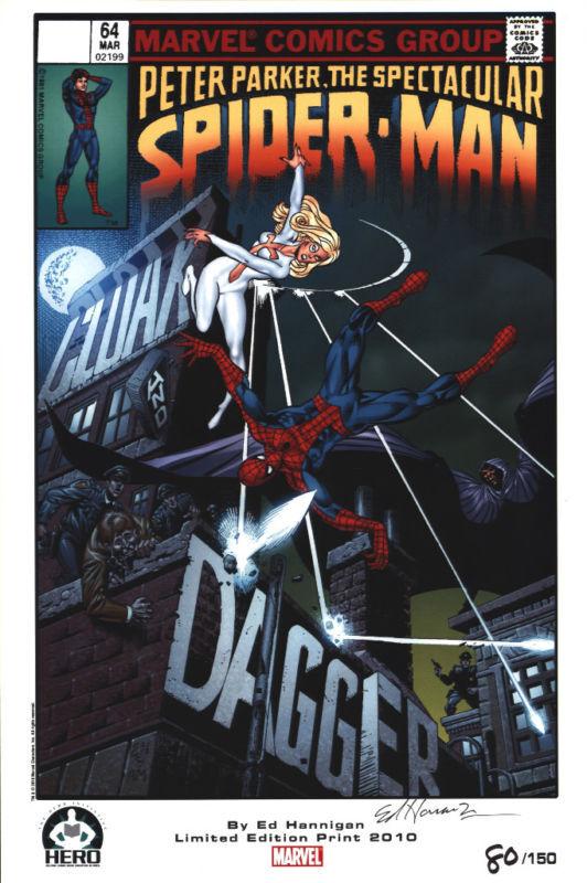 ED HANNIGAN AUTOGRAPHED Spider-Man litho