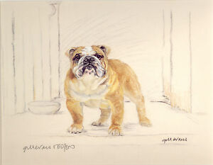 BULLDOG ENGLISH BRITISH DOG FINE ART LIMITED EDITION PRINT