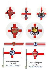 FOOTBALL-CAR-ACCESSORIES-Club-Country-Air-Freshener-Tax-Disc-Holder-Flag-Sticker