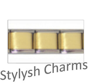 SET-of-3-GOLD-TONE-MATTE-CENTRE-Italian-Charm-Starter-9mm-Links-x3-GMC001