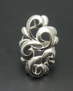 STYLISH-LONG-STERLING-SILVER-RING-925-NEW-SIZE-4-10
