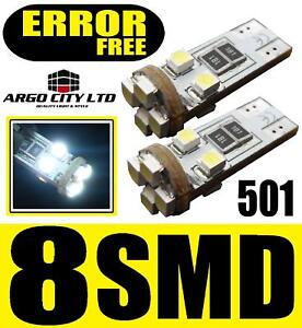 501 8 LED WHITE SIDELIGHT BULBS AUDI A2 A3 A4 A5 A6 A8