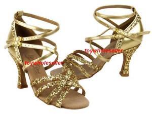 Ladies-Latin-Ballroom-Salsa-Gold-Dance-Shoes-G196