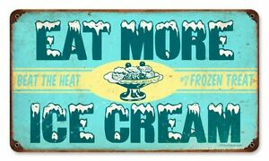 Eat More Ice Cream Diner Cafe Ice Cream Parlor Retro Metal. Neuropathy Infographic Signs. Washing Machine Signs. Non Motile Signs. Cnc Signs. Nystagmus Signs. Resuscitation Signs. Vintage Tin Signs. Lean Signs