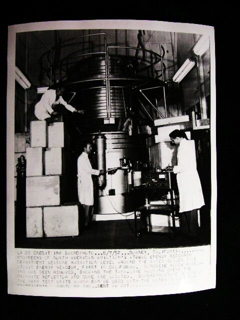 ATOMIC ENERGY  RADIATION CALIF   PHOTO 1952#6485