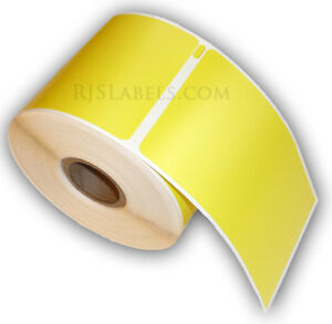 10-RJS-Yellow-Shipping-Labels-Compatible-w-DYMO-30256