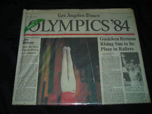 Los Angeles Times 1984 Olympics Newspaper Peter Vidmar