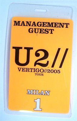 U2 - VERTIGO 2005 MILAN ORANGE BACKSTAGE PASS - NEW
