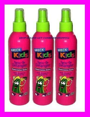 3 Breck Kids Spray-on Detangler Watermelon Smile Gently Detangles For Manageable