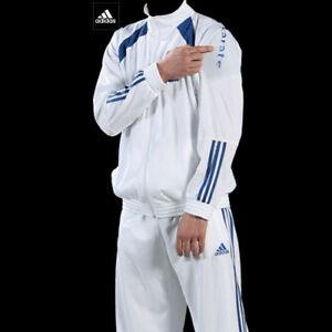 Adidas-Judo-Karate-Polyester-White-Track-Suit