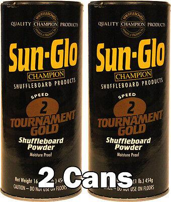 Sun glo Speed 2 Gold Shuffleboard Table Powder Wax (2)