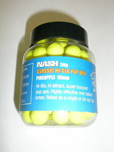 Nash HI GLO Pop ups 10mm PINEAPPLE- YELLOW Carp Fishing