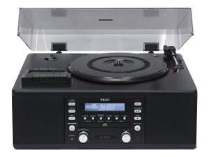 TEAC-lp-r500-giradischi-lettore-CD-FM-Tuner-NERO-NUOVO