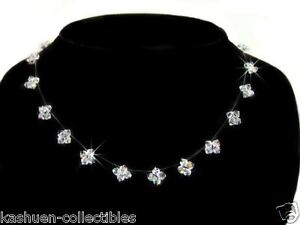 w-Swarovski-Crystal-Floating-Bridal-Wedding-Dream-STAR-Sterling-Silver-Necklace