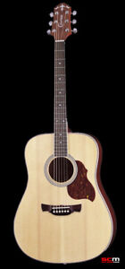 SOLID TOP ACOUSTIC GUITAR SITKA SPRUCE & MAHOGANY CRAFTER D6