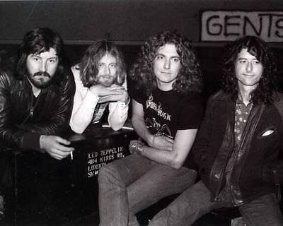 1975 LED ZEPPELIN 8X10 GLOSSY ROCK BAND PHOTO RARE!
