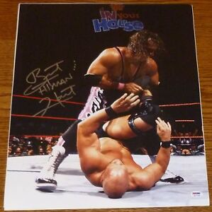 Bret-Hitman-Hart-Signed-WWE-WWF-16x20-Photo-PSA-DNA-COA-Stone-Cold-Steve-Austin