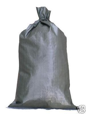 1000 Green Sandbags ties 14x26 Sandbag,Bags,Sand Bags Military Grade Flood  on Rummage