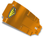 Cycra Speed Armor Skid Plate Orange KTM 250 350 4