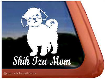 SHIH TZU MOM ~  High Quality Shih Tzu Dog Window Decal Sticker