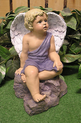Flagstone Cupid Angel Cherub Latex Fiberglass Production Mold Concrete Plaster